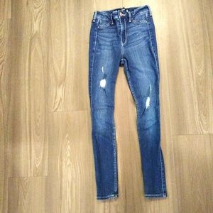 Hollister High Rise Advanced Stretch jeans sz 0S